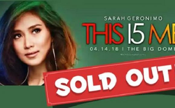 Sarah Geronimo's concert is sold out!