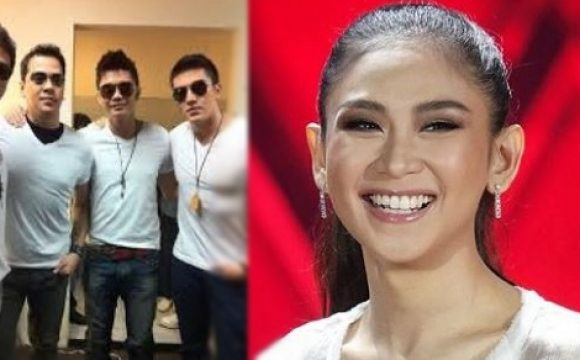 Sarah Geronimo is one of the boys in this performance