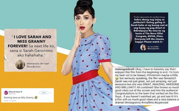 "Celebrities Show Support for Sarah Geronimo's Blockbuster Film, ""Miss Granny""!"